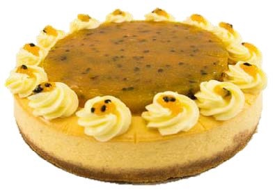 "Passionfruit Baked Cheesecake (10"")"
