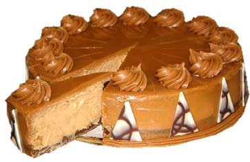 """Caramel Deluxe Baked Cheesecake (10"""")"""